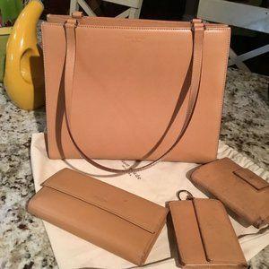 Kate Spade Leather Large Sam Handbag + Extras!